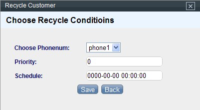 Dialer Recycle Setting