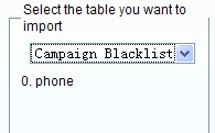 Import To Campaign Blacklist